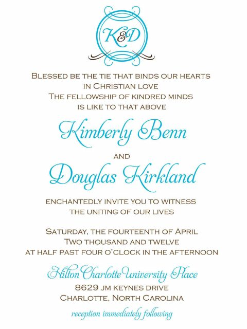 Three Little Birds - wedding - invitation - simple - kimberly be