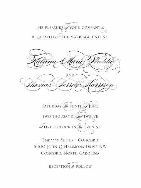 Three Little Birds - wedding - invitation - simple - trina