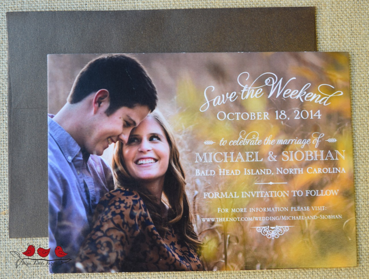 Three Little Birds - Save the Date - Picture - Rustic Chic