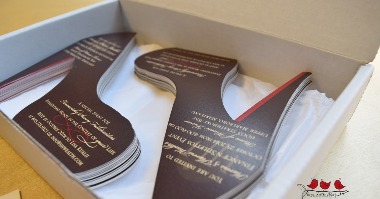 Three Little Birds - Corporate - Branding - Box of Shoes - Die Cut -